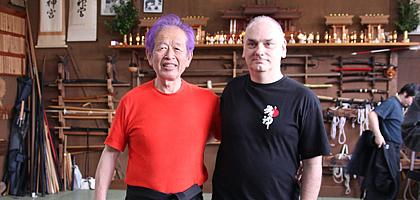 Jean-François Beaudart avec Hatsumi Sensei