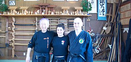Virginie, Jean-François et Hatsumi Sensei, Un autre enseignement de Hatsumi Sensei,  hatsumi, hombu dojo, bujinkan, bujinkan paris, ninja, ninjutsu, kunoichi