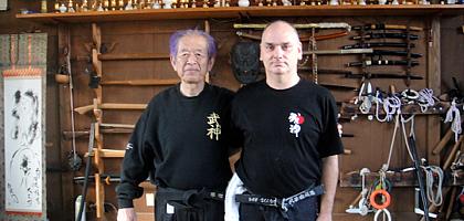 Jean-François Beaudart et Hatsumi Sensei, Un autre enseignement de Hatsumi Sensei,  hatsumi, hombu dojo, bujinkan, bujinkan paris, ninja, ninjutsu, kunoichi