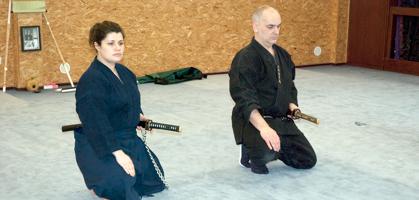 Jean-François et Virginie au Sabre, Un autre enseignement de Hatsumi Sensei,  hatsumi, hombu dojo, bujinkan, bujinkan paris, ninja, ninjutsu, kunoichi