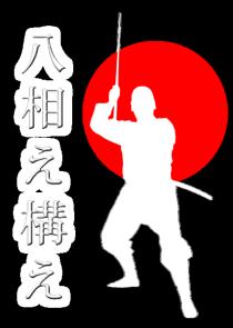 Kamaé au sabre en Nin Jutsu : Hassô no Kamaé, sabre, katana, Le Dojo, dojo, budo, bushi, samourai, ninjas, ninja, nin jutsu, ninjutsu paris, nin jutsu paris, bujinkan, bujinkan paris, ninja paris
